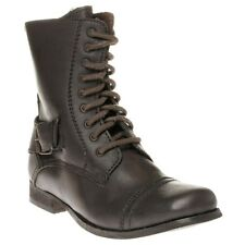 New Womens Lotus Brown Baltimore Leather Boots Ankle Lace Up Zip