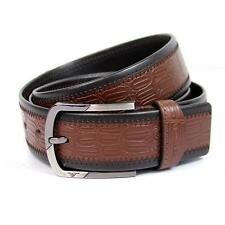 "Mens Belt Genuine Septwolves Real Leather Fashion Black/Brown/Red Waist30""-44"""