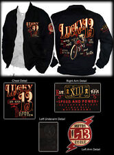 AUTHENTIC  LUCKY 13 RACING THE DEVIL CHINO LINED JACKET COAT MOTORCYCLE