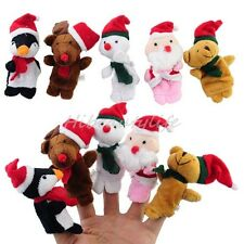 New Christmas Soft Mini Finger Puppets Toy Doll Christmas Baby Kids Gift 5pcs