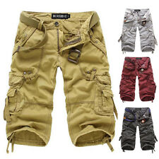 SUPER CHEAP Mens Fashion Causal Baggy Working Cargo Style Trousers Short Pants