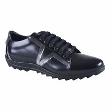 Versace Collection Black Leather Fashion Sneakers Shoes Sz 6 7 8 9 10 11 12