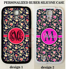 Vintage Embroidery Floral MONOGRAM PHONE Case For Samsung Galaxy S8 S7 S6 NOTE 5