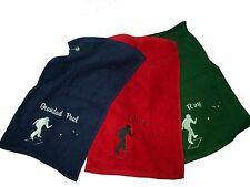 Personalised Bowls Towel ~ Lawn, Crown, Flat, Green Bowling, Gift or Club Prize