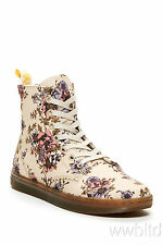 Dr. Martens Womans Hackney Beige Wild Rose T Canvas Boots- Limited Sizes