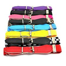 Candy Color Child Kids Baby Elastic Band Belt Decoration Waistband With Buckle