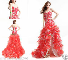 Sexy Sweetheart High-Low Prom Dress Formal Pageant Dress Ball Party Evening Gown