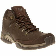 New Mens Caterpillar Brown Collateral Mid Synthetic Boots Work Lace Up