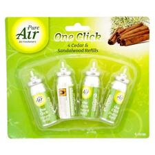 4 ONE TOUCH AIR FRESHENER REFILLS GLADE SENSE AND SPRAY COMPATIBLE SCENT AROMA