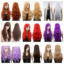 New Fashion Women Heat Resistant Hair Blonde/Purple/Orange/Red Wigs Cosplay LOT
