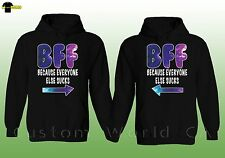 Couple Hoodie  BFF Best Female Friends Couple Matching SweatShirt  Best Feriends