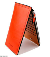 Unisex Long wallet Credit Cards Iphone Holder Ladies Clutch Bifold Purse 6Colors
