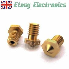 3D Printer 0.3/0.4/0.5mm Brass J-Head Extruder Nozzle for 3mm Filament M6 Thread