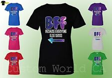 BFF Women T Shirt - Best Female Friends Couple Matching Shirt Tee - BFF Tee