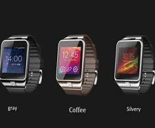 Luxury Bluetooth Smart watch For iphone 5 5S 6 6 Plus Sync Call Facebook Msg