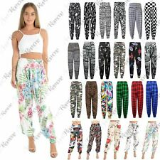 New Womens Ladies Printed Cuffed Bottom Ali Baba Harem Baggy Trousers Leggings