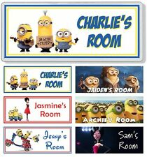 Minions Movie Personalised Kids' Bedroom Door Plaque / Sign ANY MESSAGE