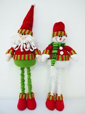 Xmas Gifts Stuffed Plush Santa Claus Dolls Toys Christmas Home Decor Ornaments