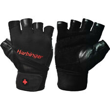 Harbinger 140 Pro Wristwrap Weight Lifting Gloves - Black