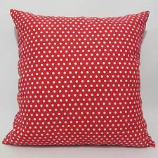 FFA-193 WHITE POLKA DOTS SPOTTED Canvas Throw Pillow Cushion Cover Custom Size