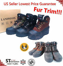 FREE $2.99 SOCKS Kingshow Men's Winter Snow Boots Shoes Leather Waterproof 1280
