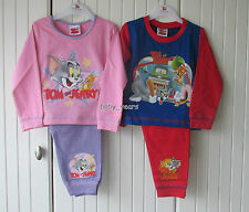 TOM & JERRY CHILDRENS PYJAMAS BOYS GIRLS CAT MOUSE KIDS CHARACTER NIGHTWEAR NEW