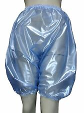 PVC Bloomers Sissy Pants Knickers Semi Clear Blue  Adult Baby Panties Plastic