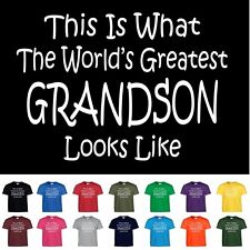 Worlds Greatest GRANDSON Birthday Christmas Gift Funny T Shirt Youth Child Size