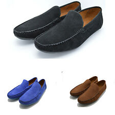 Da Uomo Italiano Mocassini Mocassino Driving Casual Festa SLIPON Scarpe blackbluebrown