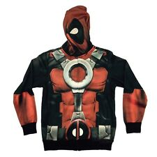 Deadpool Costume Sublimated Fleece Marvel Comics Adult Hoodie S-XXL