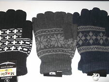 NEW MENS LADIES KIDS CHILDRENS THERMAL WINTER WARM MAGIC STRETCH GLOVES V. COSY