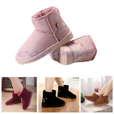 Fashion Women Girls Lady Winter Warm Cute Cat Face Flats Ankle Snow Boots Shoes