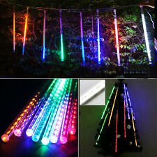 Christmas Meteor Shower Rain 8 Tubes LED Light String 20/30/50CM US Plug 110V