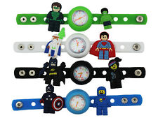 Kids DIY Watch + 16 Lego movie Super Hero Batman Spiderman Superman Charms Gifts