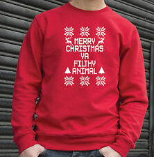 Merry Christmas Ya Filthy Animal Funny Sweatshirt - XS - 3XL - 36 Great Colours
