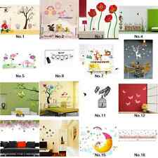 New Wall Sticker Wall Paper Home Decor Tree Removable Decal Animal Forest