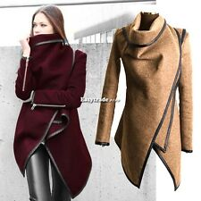 Women's Warm WOOL Slim Long Coat Jacket Trench Windbreaker Parka Outwear ESY1
