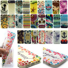 New TPU Silicone Print Rubber Soft Cell Phone Back Case Cover For iPhone 4 4S