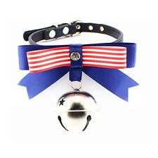Pet Collar Dog Uncle Cat collars Bow knot Collars With Diamond and Large Bell