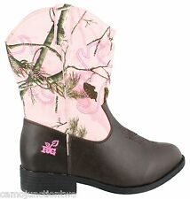 Womens Realtree Girl AP Pink Camo Western Cowgirl/ Cowboy boots