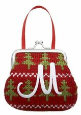 Monogram Initial Coin Purse Christmas Ornament, Choose Your Initial