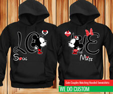 LOVE Mickey Kissing Minnie - Couples Matching Hoodies SET OF 2 HOODIES