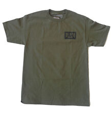 Death Squad 'Trademark Logo' Mens T-Shirt - Army Green - Skate Surf Streetwear