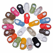 Baby Moccasins Soft Moccs Newborn Infant Genuine Leather Boy & Girls Suede Shoes