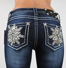 Miss Me Jeans Snowflake Flower Serenade Boot Cut 25 26 27 28 29 30 31 32 33 34