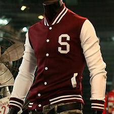 US Mens Varsity CLASSIC College Coat Baseball Jacket Tops Outwear Sport Uniforms