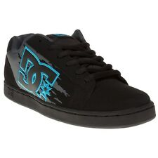 New Mens DCs Black Serial Graffik 2 Leather Trainers Skate Lace Up