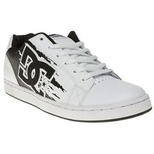 New Mens DCs White Serial Graffik 2 Leather Trainers Skate Lace Up