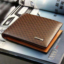 Men's Designer Brown Leather Wallet Luxury Credit Card Holder Bifold Purse
