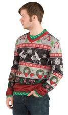 Ugly Christmas Frisky Deer Sweater Adult Mens Costume Thanksgiving Halloween